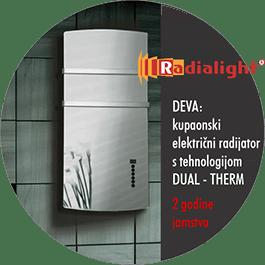 Radialight DEVA - kupaonski električni radijator