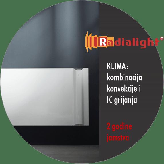 Radialight KLIMA - kombinacija konvekcije i IC grijanja