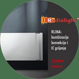 Radialight KLIMA - konvekcijski i IC radijator