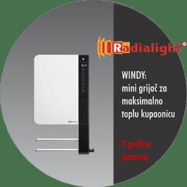 Radialight WINDY- kupaonski mini grijač