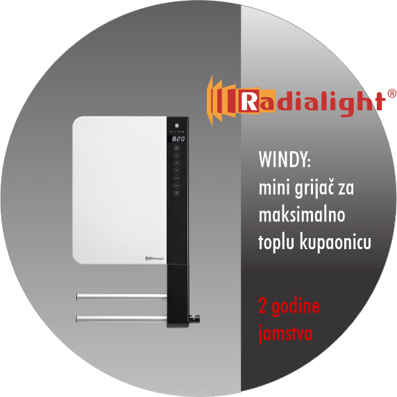 Radialight WINDY - mini kupaonski grijač