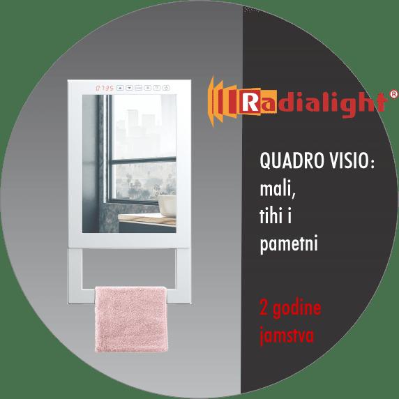 Radialight Quadro Visio - Kupaonski radiator sa ogledalom