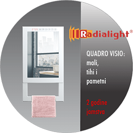 Radialight Quadro Visio - Kupaonski radiator sa ogledalom min